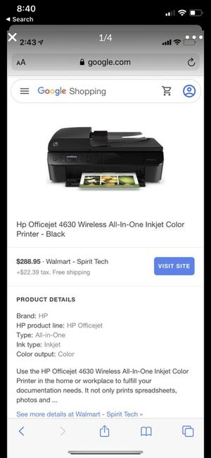 HP Officejet 4630 all in one print fax scan copy for Sale in Hesperia, CA