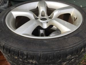5 lug rims and tires good tread on tires for Sale in Asheboro, NC