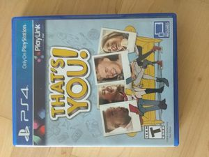 That's You - PS4 game like new for Sale in McLean, VA