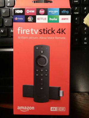 fire tv stick 4K (Brand New) HD, HDR, & 4K for Sale in San Antonio, TX