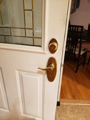 Two Brass Front Door Lock Sets - FREE for Sale in Shelton, CT