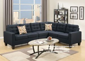 Black L Shape Couch Sofa Sectional Modern for Sale in Los Angeles, CA