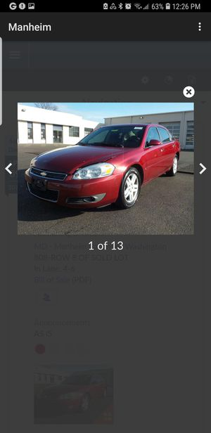 Chevy impala 2007 for Sale in Baltimore, MD