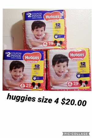 huggies size 4 for Sale in Los Angeles, CA
