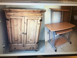 Armoire and Computer Desk for Sale in Denver, CO