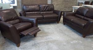 Almafi 3pc Italian leather sofa set for Sale in Decatur, GA