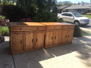 Oak computer cabinets for Sale in Concord, CA