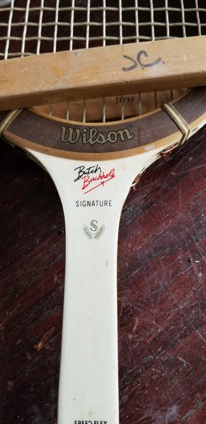 Vintage Wilson Butch Bucholz signature series tennis racket with warp rack for Sale in Westerville, OH