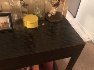 Wicker black console table for Sale in Queens, NY