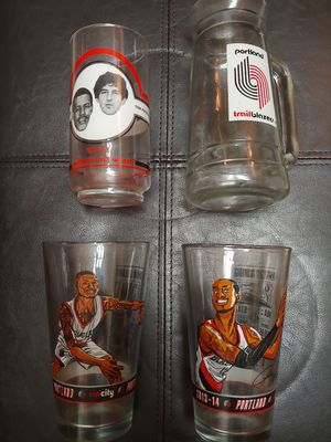 Blazers Collectible Glasses for Sale in Portland, OR
