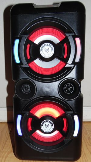 BLACKMORE Portable Party Speaker Pro Audio 6.5 in. 1300W Bluetooth Rechargeable PA Speaker with Dual Woofers for Sale in Houston, TX