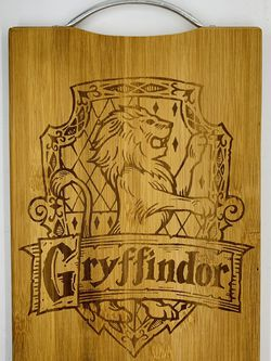 Harry potter gryffindor laser engraved bamboo high quality cuttingboard pop gift for Sale in Los Angeles,  CA