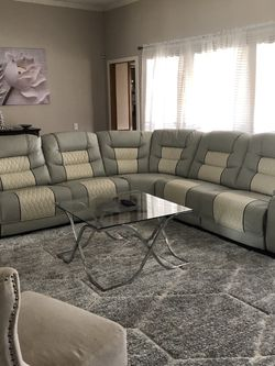 Leather Sectional With Electric Recliners for Sale in Garland,  TX