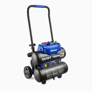 Kobalt Quiet Tech 4.3-Gallon Single Stage Portable Electric Twin Stack Air Compressor for Sale in North Las Vegas, NV