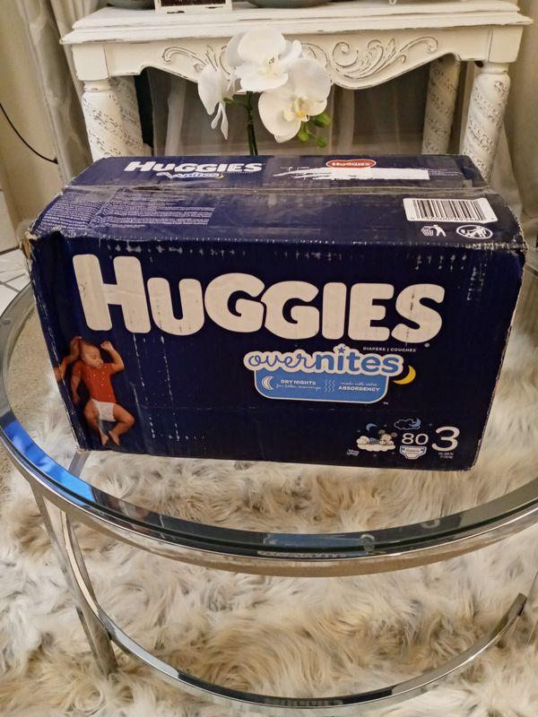 Huggies overnites size 3 80 count