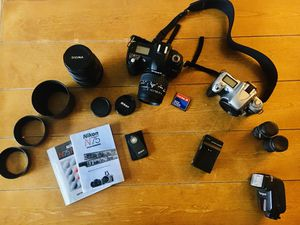 Nikon Camera Kit with Two Sigma Macro Lenses for Sale in Everett, WA