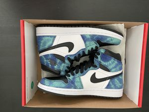 Brain new Jordan 1 tye dye size 8w 6.5m with ticket for Sale in Orlando, FL