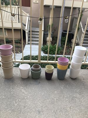 Set of 17 garden pots for Sale in Orange, CA
