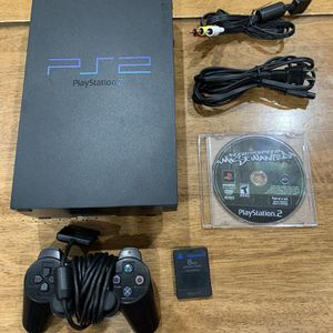 Sony Playstation 2 PS2 Fat Console SCPH-50001/N Controller 8GB Card & Game for Sale in Newark, CA