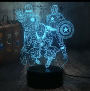 SPIDERMAN + SUPERHERO 3D LED COLOR CHANGING NIGHT LIGHT DECORATIVE TABLE LAMP 🎁 GIFT for Sale in Macomb, MI