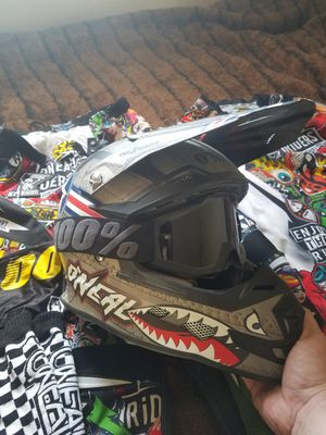 Dirt bike helmet and gear for Sale in US