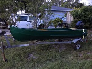 Aluminum Jon Boat with Trailer and Motor for Sale for Sale in Boynton Beach, FL