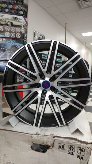 22x9 22x10.5 Elegante AV88 Rims 5x120 Black Machined Chevrolet Camaro for Sale in Fife, WA