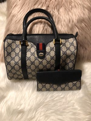Gucci Vintage GG Monogram Satchel w Matching Wallet Authentic for Sale in Maple Valley, WA