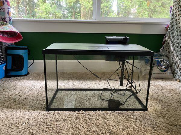 BRAND NEW 10 gallon LED aquarium set up