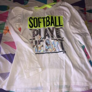 Justice size 8 softball fitted T for Sale in Chino Hills, CA