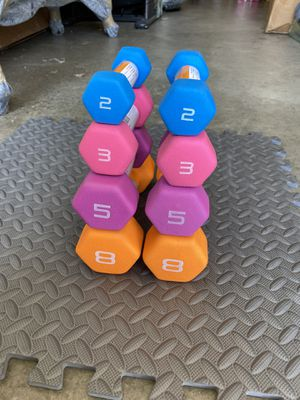 CAP Bundled Pair of 2 lb, 3 lb, 5 lb and 8 lb Neoprene Dumbbells Weights (brand new) for Sale in Fremont, CA