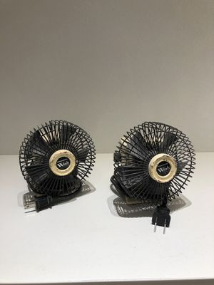 2 compact table fan non-oscillating 120v for Sale in Orlando, FL