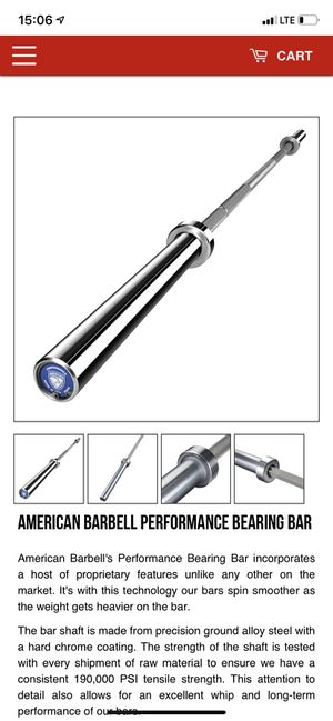 American barbell performance bearing bar for Sale in San Diego, CA