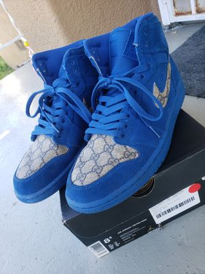Custom Guccci Retro High Royal Blue Suede 1s size 8.5 for Sale in Westchester, CA