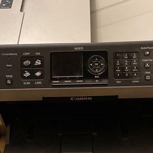 Cannon Mx870 Printer Multi Functions Fax Scan for Sale in Stockton, CA