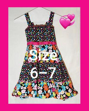 Jenny & Me sz 6-7 girls dress multicolored polka dot flowered for Sale in Dale, TX