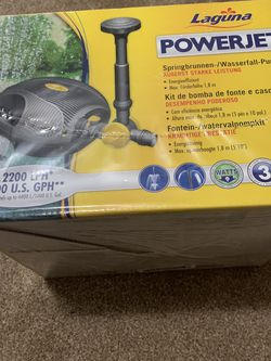 Laguna PowerJet 600 Fountain/Waterfall Pump Kit for Ponds Up to 1200-Gallon for Sale in Chicago,  IL