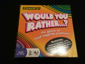 Balderdash and would you rather Board games for Sale in Redlands, CA
