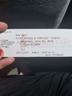 Tickets To Ricky Skaggs Sat Night. for Sale in Winchester, KY