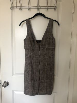 Grey Plaid Overall Dress Size Small for Sale in Newport Beach, CA
