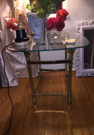 Seashell Glass End Table for Sale in San Diego, CA