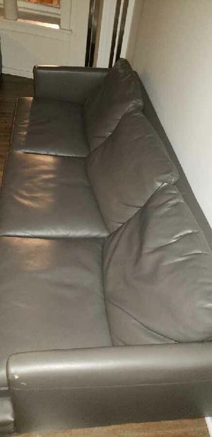 Leather Grey Couch for Sale in Chicago, IL