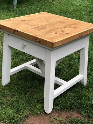 Pottery Barn reclaimed wood top large end table / night stand for Sale in Centreville, VA