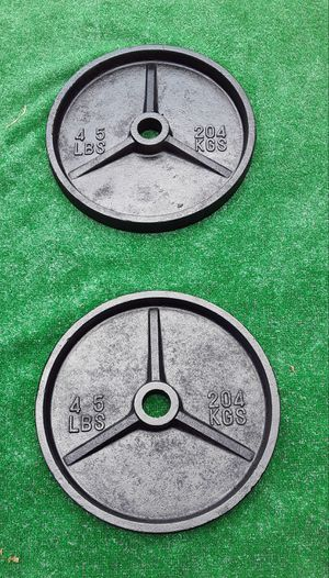 2x45lbs Olympic Size Barbell Plate Weights for Sale in Hollywood, FL