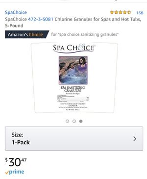 Spachoice Chlorine Granules for Spas and Hot Tubs, 5-Pound for Sale in Nashville, TN