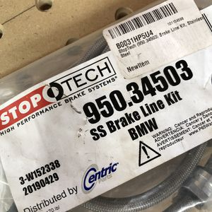 BMW E46 M3 STOPTECH STAINLESS STEEL BRAKE LINES for Sale in Los Angeles, CA