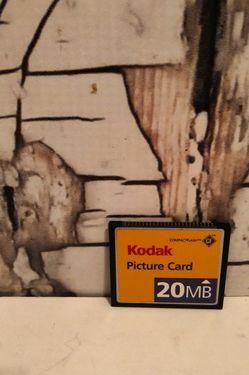 Kodak 20MB Picture Card CompactFlash CF Digital Camera Memory Card for Sale in Denver,  CO