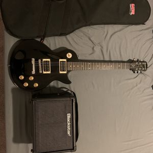 Epiphone les paul 100 + Blackstar ID Core 10 + Case + Stand for Sale in Houston, TX