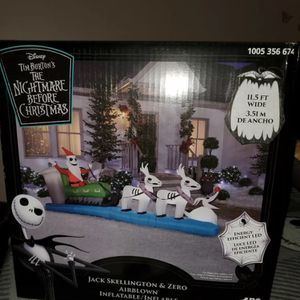 Nightmare Before Christmas Inflatable for Sale in Redlands, CA