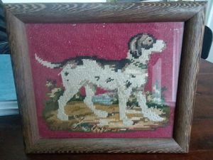Vintage Dog Picture made of Fabric Framed for Sale in New York, NY